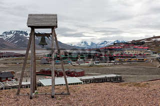 Bell tower in Longyearbyen, Norway