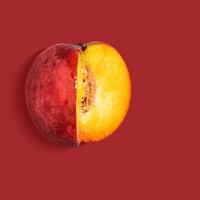 Flat nectarine background