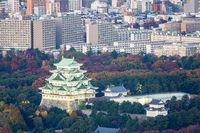 Aerial view Nagoya Castle