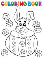 Coloring book Easter rabbit theme 4