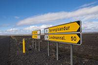 Iceland, route sign to Sprengisandur