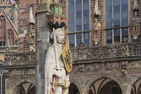 Bremen - Roland Statue in front of the Town Hall, Germany