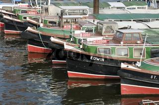 Boote in Hamburg, Deutschland