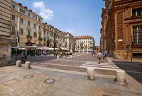 Piazza Carignano square in Turin