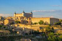 Toledo Alcazar in Spanien - Toledo Alcazar castle in Castilla-La Mancha, Spain