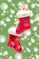 red santa claus boots