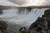 Iceland, Goðafoss, waterfall of the gods