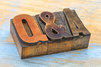 Questions and answers acronym in woodtype