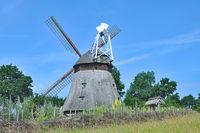 Windmill of Grebin near Ploen in Holstein Switzerland,Schleswig-Holstein,Germany