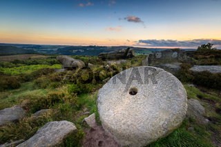 Peak District millstone