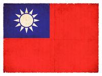 Grunge flag of Taiwan