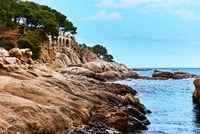 Platja D'Aro beach. Costa Brava in Catalonia, Spain.