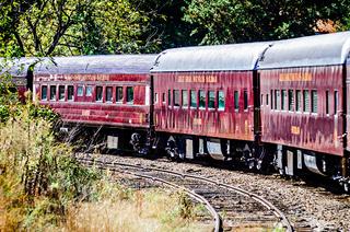 Train passenger car of great smoky mountains railroad
