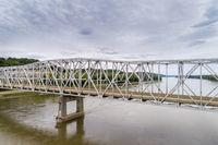 Missouri River bridge aerial view
