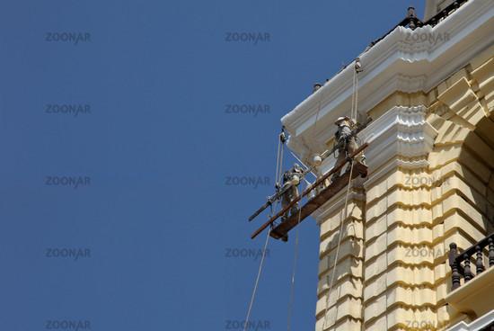 Renovierung Kirche / Building Worker On Church