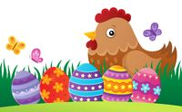 Easter hen theme image 2
