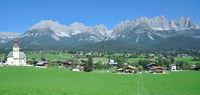 Village of Going am Wilden Kaiser in Tirol,Austria