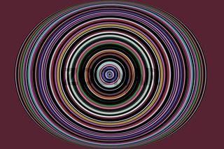 Rund/ovales farbiges Streifenmuster