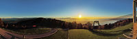 Lake Constance panorama in the sunset from Pfänder