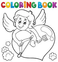 Coloring book Cupid topic 2