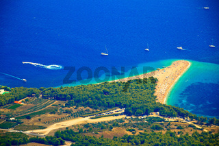 Zlatni rat beach aerial view