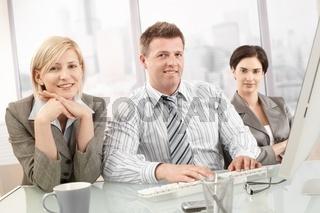 Portrait of confident business team