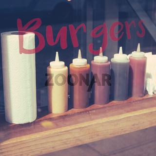 Burger Restaurant Condiments