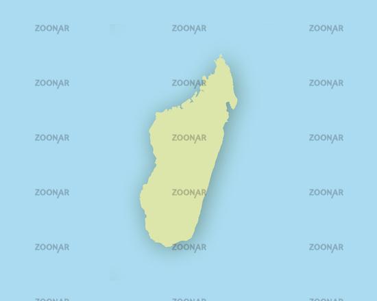 Madagaskar Karte.Photo Karte Von Madagaskar Mit Schatten Map Of Madagascar