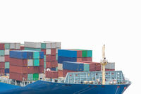 container ship prow isolated