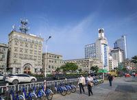 riverside promenade street in central xiamen city china