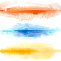 Abstract colorful watercolor lines