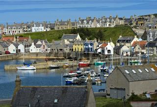 Fischerdorf Findochty mit Hafen am Moray Firth, Schottland, Grossbritannien