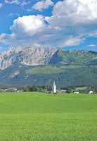 Village of Bad Mitterndorf in styrian Salzkammergut,Styria,Austria