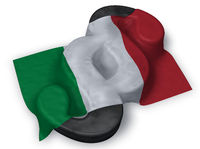 paragraph symbol und italienische flagge - 3d illustration