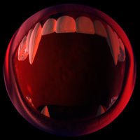 Digital 3D Illustration of a Vampire Fangs