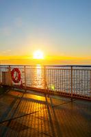 Sundown at open deck