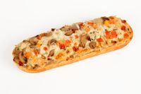 pizza baguette with mushrooms