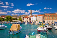 Kastel Novi turquoise harbor and historic architecture view