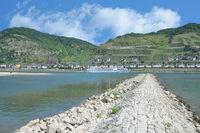 Village of Lorchhausen at Rhine River in Rheingau,Hesse,Germany