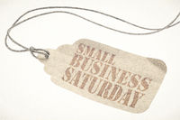 Small Business Saturday text on paper price tag