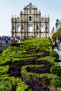 st paul's church ruins tourist attraction landmark in macau china