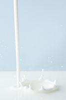 Pouring milk splash