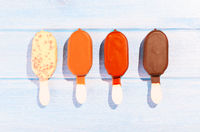 Ice creams on table