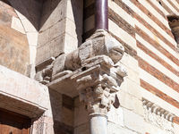 sculpture on portal of Duomo Cathedral in Verona
