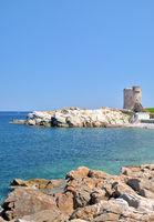 Watchtower of Marciana Marina on Elba Island,Tuscany,Mediterranean Sea,Italy