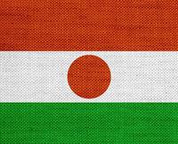Fahne von Niger auf altem Leinen - Flag of Niger on old linen