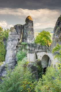 Medieval Bastei Bridge in Saxony