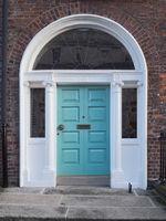 Dublin - Entrance portal, Georgian style, Ireland