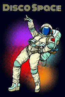 astronaut woman dancing disco