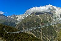 Charles Kuonen Suspension Bridge,world's longest pedestrian suspension bridge,Valais